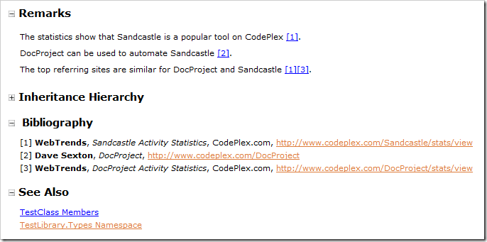 Example Sandcastle Bibliography